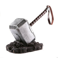 1:1 The Avengers Resin Thor Hammer /Stand Base Replica Cosplay Prop Mjolnir Gift