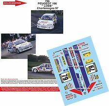 DÉCALS  1/24 réf 796 Peugeot 106 Loeb Charlemagne  1997