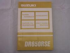 SUZUKI DR650RSE DR650 1992 FAHERHANDBUCH HANDLEIDING MANUEL DU PROPRIETAIRE