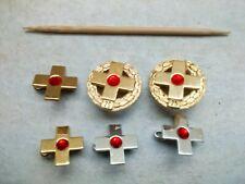 6 Abzeichen DRK Blutspender,Gold,Silber,925