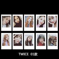 10pcs/set Kpop TWICE Polaroid Photo Card Self Made Collective Photocard Cards
