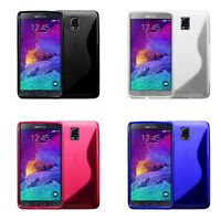 CASE COVER FOR SAMSUNG GALAXY NOTE 4 S-LINE SILICONE GEL AND SCREEN PROTECTOR