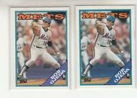 BOB OJEDA 1988 Topps #558 Error Variation Blue Purple Name Banner New York Mets