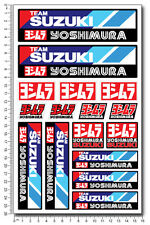 Suzuki Yoshimura Team 6.3x10.2'' decal sheet 16 stickers gsxr 600 1000 Laminated