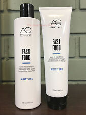 AG Hair Moisture Fast Food Shampoo 10oz & Leave-on Conditioner 6oz DUO SET - NEW