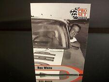 Rare Rex White Pro Set Racing Legend 1992 Card #L26