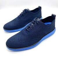 New Cole Haan Mens Original Grand Stitchlite Wingtip Oxford Shoes Size 10 Navy