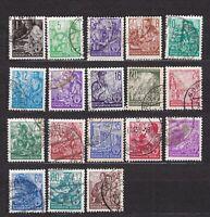 """Briefmarken DDR 1953 """" Fünfjahrplan (I) """" Nr.362-379 gestempelt"""