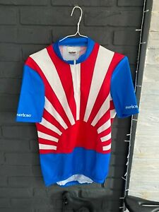 Mens Vintage Merboso Cycling Jersey Size Large swiss made rare