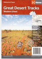 Great Desert Tracks West AUSTRALIA Map (Hema)  New. Latest edition Prioritypost