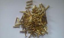 "Brass Plated ""Cymbal Sizzlers"" Split Rivets 1/8 Diameter x 3/4 Long x 7/32"