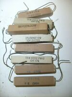 8 Mixed lot  ceramic cement sand power Resistor NOS radio shop