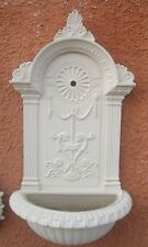 FONTANA A PARETE muro CEMENTO BIANCO E POLVERE DI MARMO moderna bianca esterno
