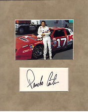 Pancho Carter Signed Matted With Photo Coa 1/17