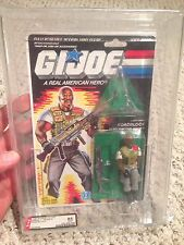 Gi Joe AFA 85 Roadblock V2 1985 1986 Triple 85's 36 Back!! Heavy Machine Gunner