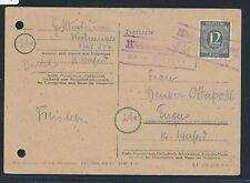 87163) OWL  Landpost Ra2 Westerenger-Dorf über Herford, 2x a.Orts-Kte 1947