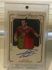 2018 National Treasures Soccer Gareth Bale Match Worn Patch Auto SP #4/10 Wales
