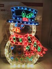 Noma 100 Light Holographic Snowman With Box