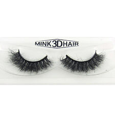 Messy 3D False Eyelashes Classic Luxurious 100% Siberian Mink Fur Eye Lashes