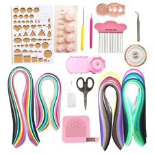 Lantee 20 Sets of Quilling Paper Kits - 8 Pack of Strips and 12 Quilling Tools