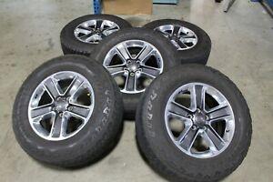 """5- 18"""" Jeep Wrangler JL Polished Factory OEM Wheels Rims Tires JK Gladiator 9221"""