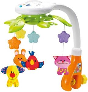 KiddoLab Baby Crib Mobile Lights and Relaxing Music Ceiling Light Projector