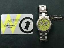 Raymond Weil Parsifal Chronograph Yellow Date 38mm Watch Stainless Steel W1 8000