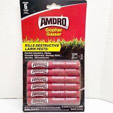 Amdro Gopher Gasser 6-Ct Kills Destructive Lawn Pests Outdoor