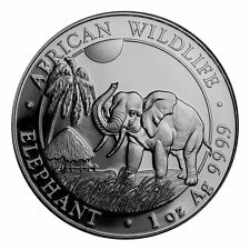 2017 100 Shillings Somalian Elephant 1 oz Silver Coin | Direct From Mint Tube