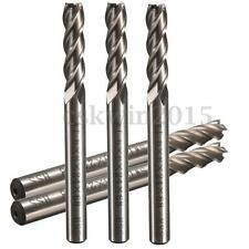 Extra Long 6mm 4 Flute HSS & Aluminium End Mill Cutter CNC Bit Router Bits 68mm