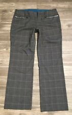 Torrid Women's Career Dress Pants Grey Checked Wide Leg Size 14 Stretch GUC D3