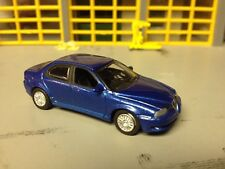 1/72 Alfa Romeo 156 GTA 4 Dr in Blue with Black Int with Rubber Tires on Alloys