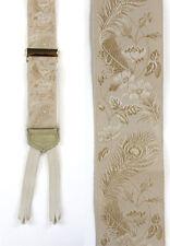 """Trafalgar Champagne Silk Braces w Floral Print""  New w Bergdorf Goodman Tag!"