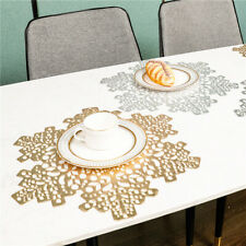 Christmas Snowflake Hollow PVC Insulation Placemat Table Mat Bowl Pad Coaster