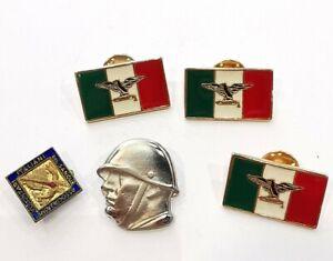 Lot 5 Insignes Militaires Italie. AD4592