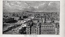 Stampa antica PARIGI PARIS lungo la Senna 1905 Old print Ancien gravure
