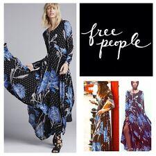 NEW FREE PEOPLE First Kiss Printed MAXI DRESS SIZE XS $208 BOTANICAL NIGHT COMBO