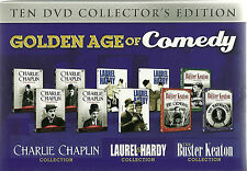 GOLDEN AGE OF COMEDY TEN 10 DVD COLLECTOR'S EDITION BOXSET BUSTER KEATON & MORE