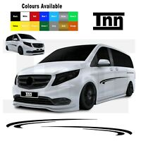 Side Racing Stripe Stickers For Mercedes Vito Decals Stripes Graphics Vinyl Merc