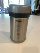 Zojirushi Bento Lunch Box Stainless Steel Round Jar Keeps Foods Hot Cold 3 Bowls