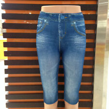 Comfy Slim Jeggings 3/4 (Blue S/M)