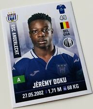 Panini Pro League 2019-20 Sticker - Jeremy Doku #17 RSC Anderlecht