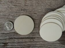 25 count 2 inch wood CIRCLE shapes DIY two inch wooden coins craft pieces round