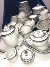 114 Piece Hutschenreuther China Dinnerware Service for 12 Platinum Encrusted