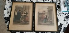 Lot of 2 Original Antique 1794 & 1796 Cries Of London Prints Plate 4 & 11