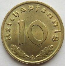 Top! 10 Reichspfennig 1936 A IN Uncirculated
