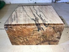 200x200x100mm LOT 29 SPALTED BEECH WOODTURNING FIGURED TIMBER BLANK