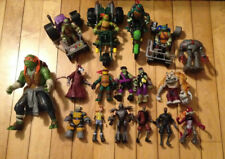 Lot Of 17 TMNT action figures and 4 vehicles Teenage Mutant Ninja Turtles