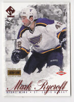 01-02 Pacific Private Stock Mark Rycroft /100 Rookie PREMIERE DATE Blues 2001