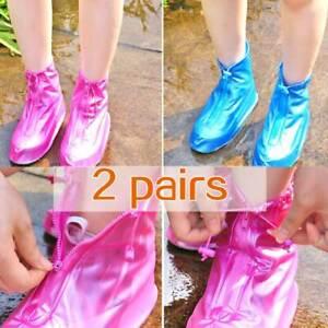 Waterproof Shoe Protection Rain Cover Zipper High Top Anti Slip Boots Soles
